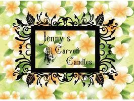 Ръчно изработени карвинг свещи Jenny's Carved Candles